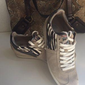 ASH Guepard Low Top Leather Wedge Sneaker